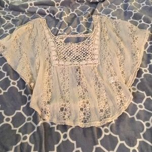 New Crotched lace peasant top
